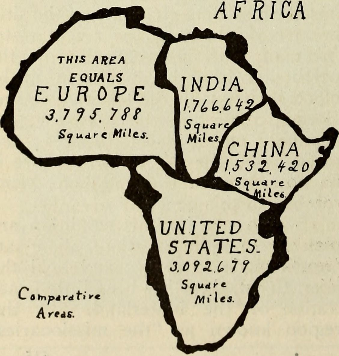 Source Comparative Map Africa Vs US China India Europe - Real map us in africa