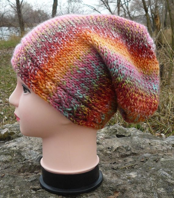73e388a0bac Color choices Colorful cool beanie hat for women Knitted accessories Gift  for her oversized Ladies b