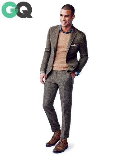 1d4e1fc510 Like the tweed jacket with sweater and shirt 1383674688061 give your suit  the boot gq magazine november 2013 style 07