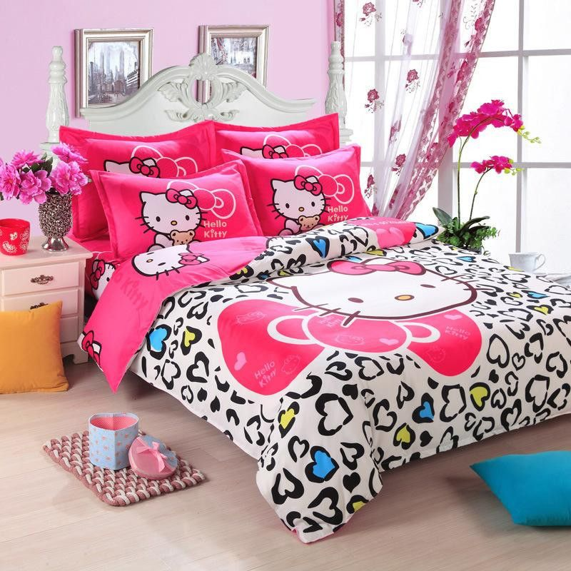 Red Hello Kitty Bedding Sets 101101000008 119 99 Colorful