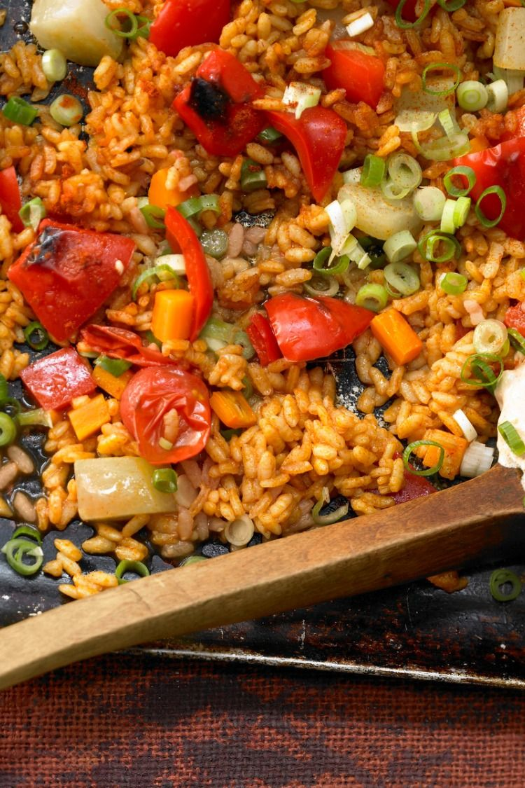 Photo of Vegetable paella from the oven