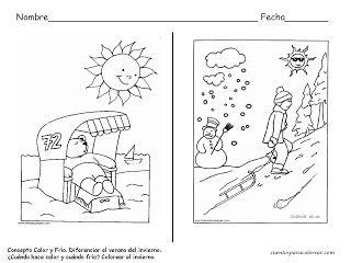 Mis Cosas De Maestra Fichas Para Trabajar El Invierno Invierno Fichas Dibujos