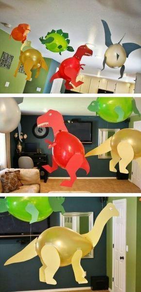 11 ganz tolle bastelideen was man mit luftballons machen kann diy bastelideen dinosaures. Black Bedroom Furniture Sets. Home Design Ideas