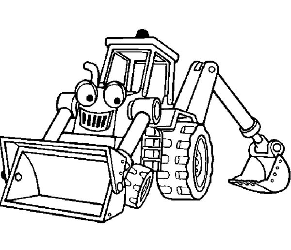 Smiling Excavator Coloring Pages Download & Print Online