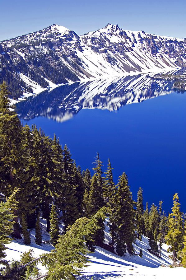 Crater Lake Photograph - Crater Lake Oregon II by Kristen Vota