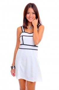 check out zoey corset flare dress white at http//www
