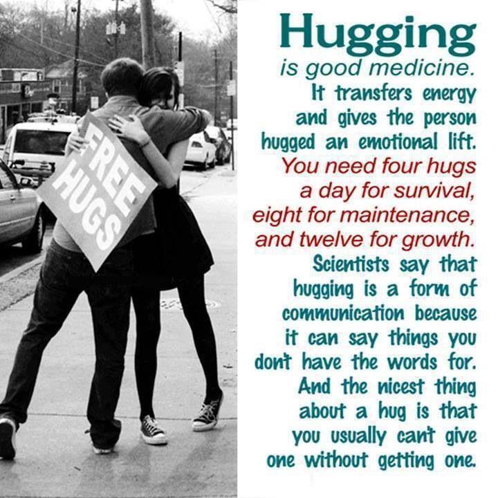 We can always use more hugs. Always.