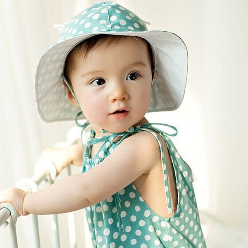 Click to Buy    Unisex Baby Infants Kids Cotton Summer Bucket Hats Polka  Dots Beach Outdoor Caps 4M-24M  Affiliate.    8edab7ae3ea1