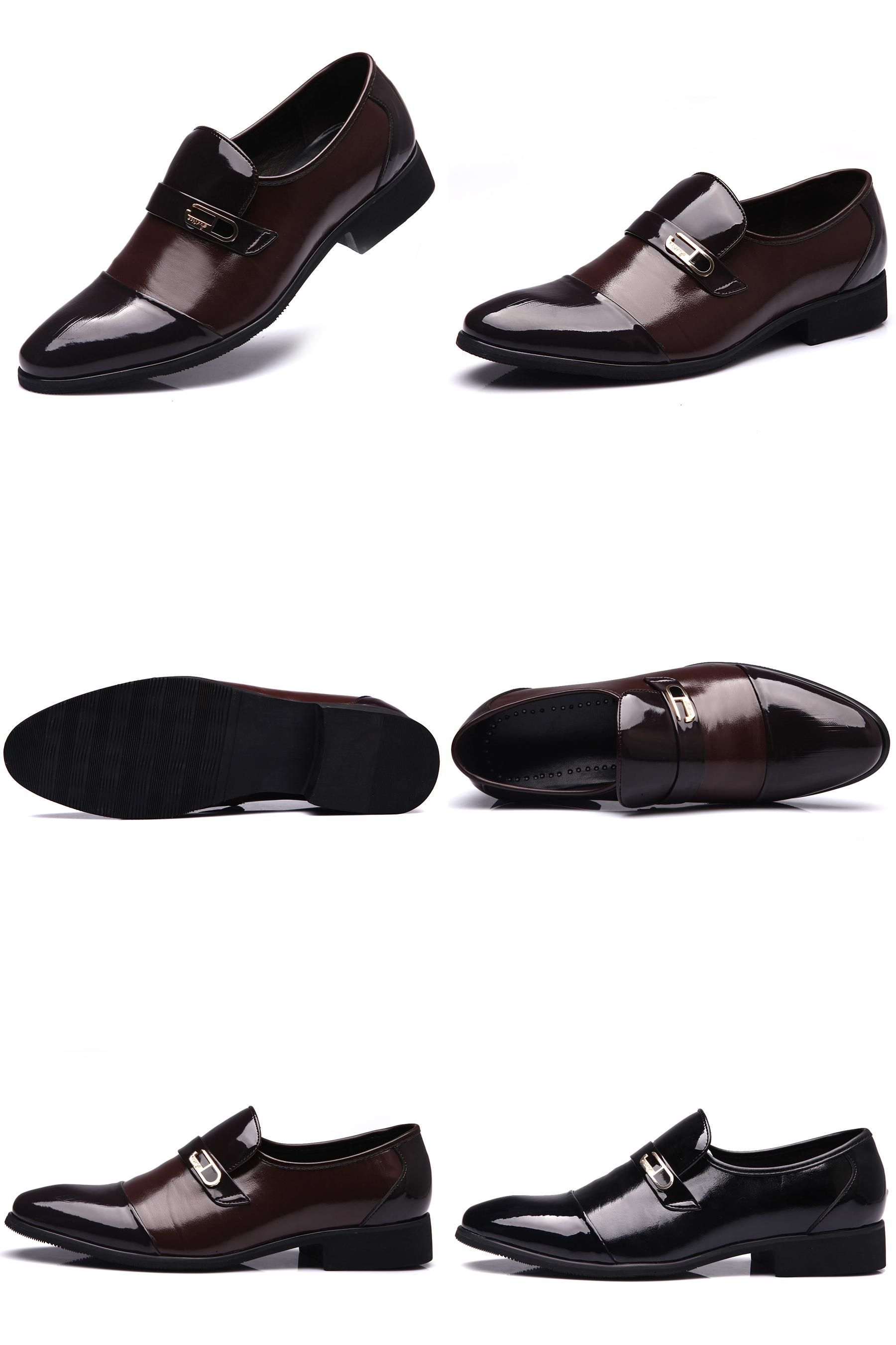 38223953915d0f  Visit to Buy  Vintage Genuine Leather Men Business Shoes Derby Black  Patent Leather Pointed