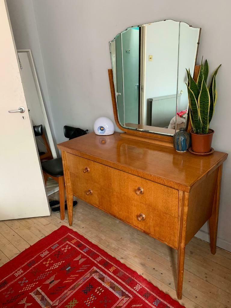 Vintage Retro 1940s 1950s Bedroom Dressing Table In Hackney