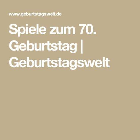 70 Geburtstag Spiele