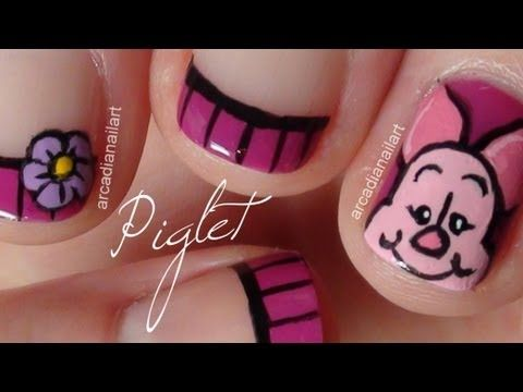Piglet Winnie The Pooh Nail Art Collaboration Amazeballs Nails