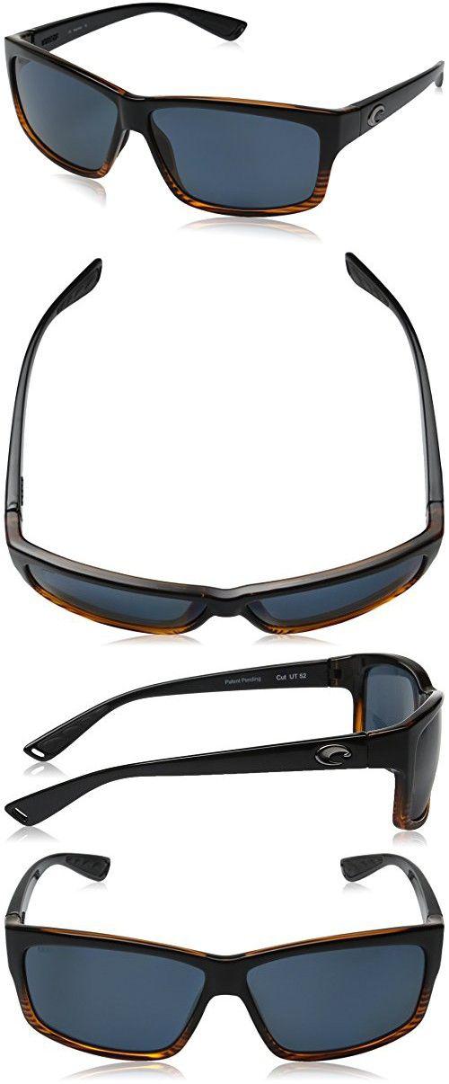 3156e70ffb1 Costa del Mar Cut Polarized Iridium Rectangular Sunglasses