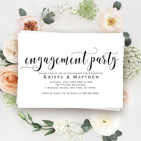 Engagement party invitation printable Engagement invitation