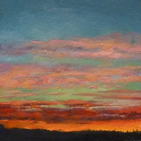 Sky19 oil on paper 6x6 $99 -- Sharman Owings
