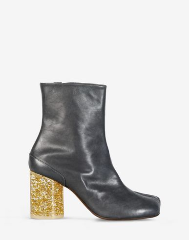 Saint Laurent Beige Leather Tabi Boots KjKzezjRQ