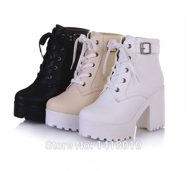 1000  images about Chunky Boots on Pinterest | High boots ...