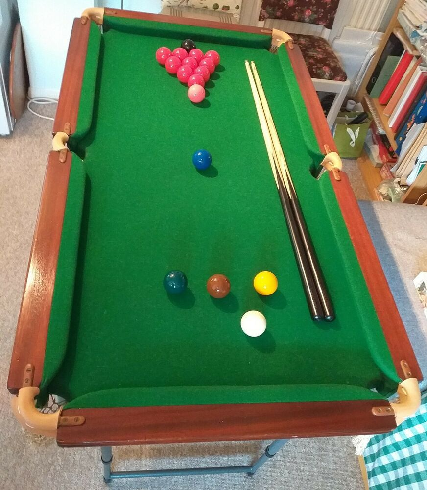 """Riley 41300 4ft 4""""× 2ft 4"""" Slate Bed Table Top Snooker"""