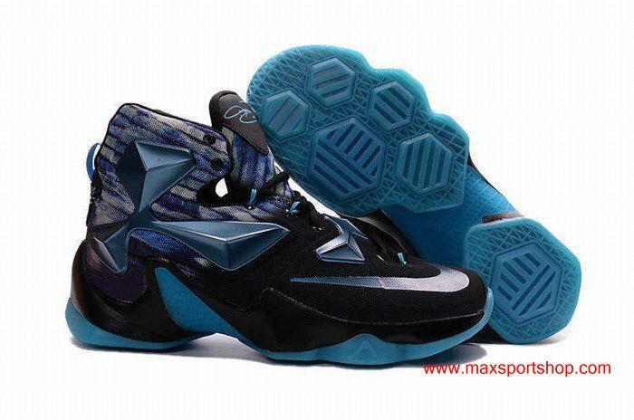 Nike LeBron XIII Black Blue Galaxy