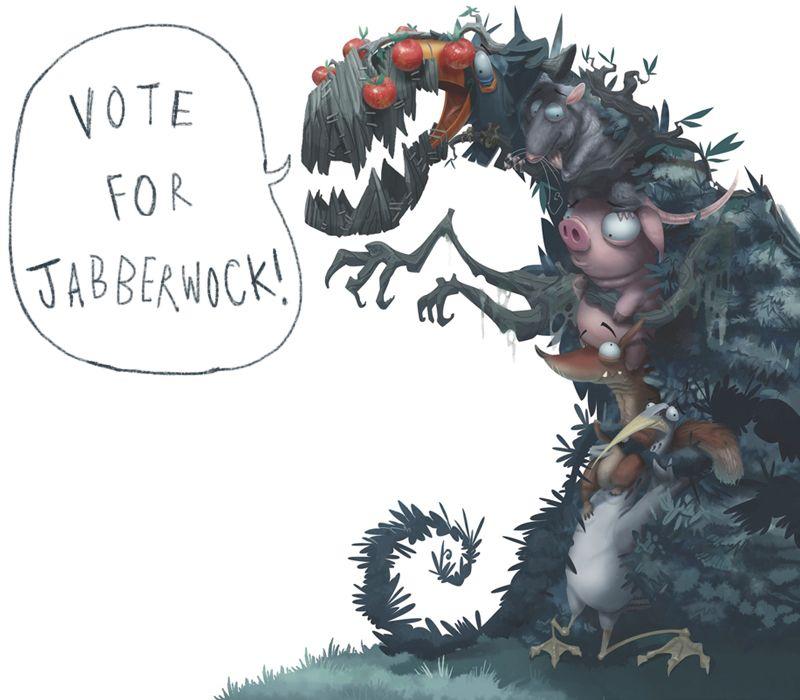 jabberwock illustration - Google Search
