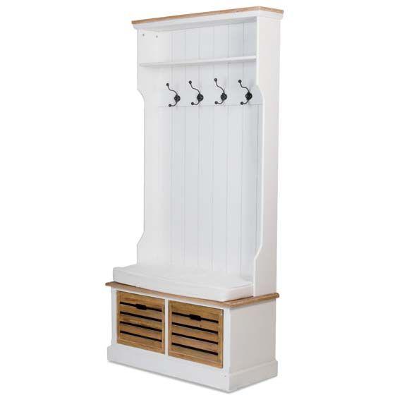 Furniture White Storage Bench With Coat Rack Hitez Ikea