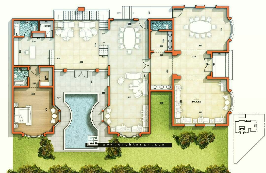 Pin By Juan Carlos Aguilar Condemayta On Houses Plans Modern Floor Plans Architectural House Plans Mansion Floor Plan