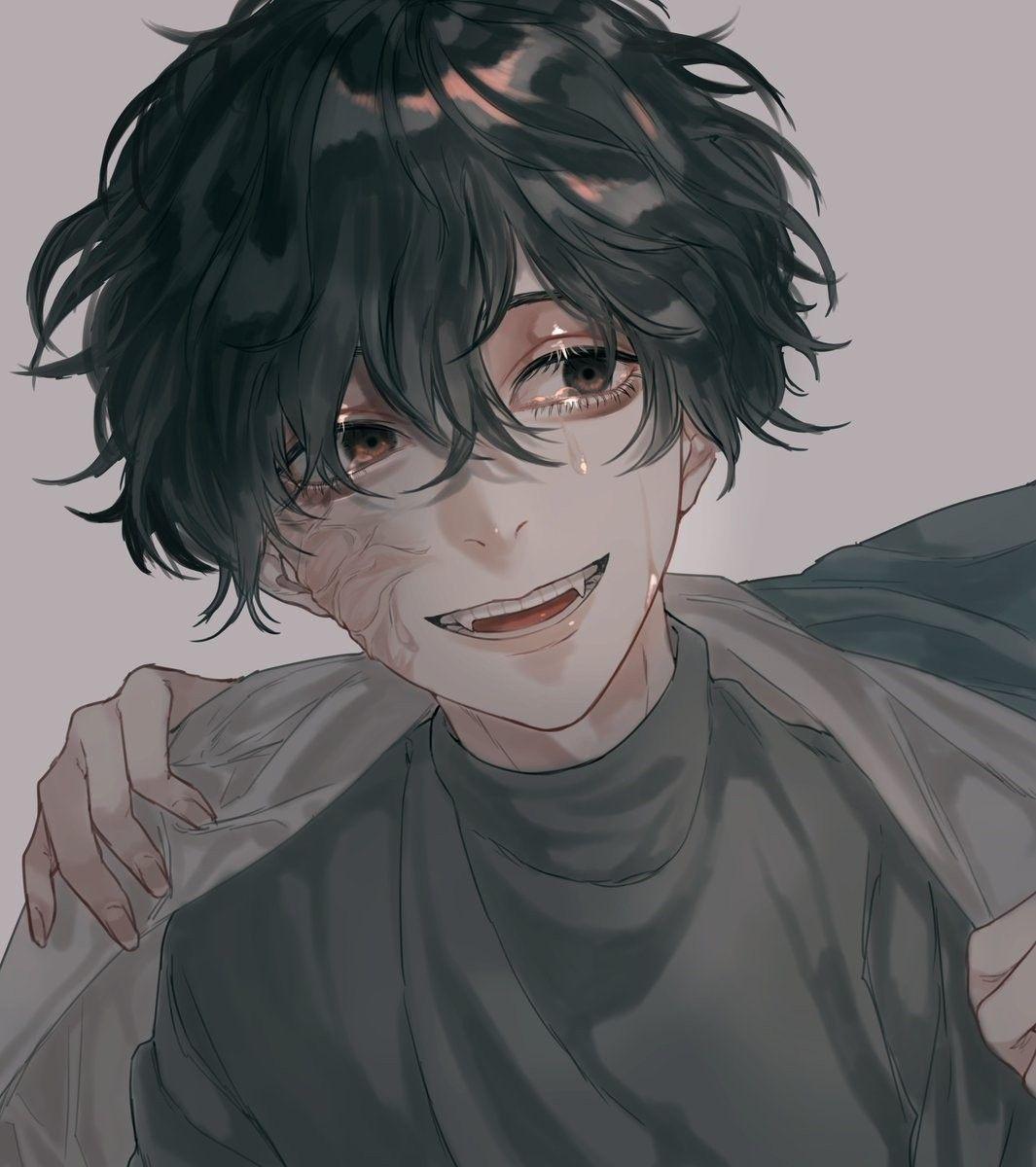Pin By On Anime Boy Black Haired Anime Boy Yandere Anime Anime Boy Hair