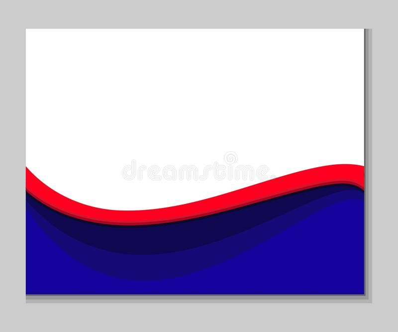 Red Blue White Abstract Wavy Background Simple Red Blue White