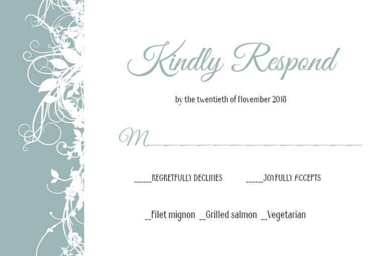 Free Rsvp Card Template White Floral  Printable Response Card Templateclick To Find The .