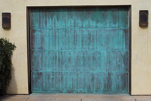 Copper Garage Door Via Northgate