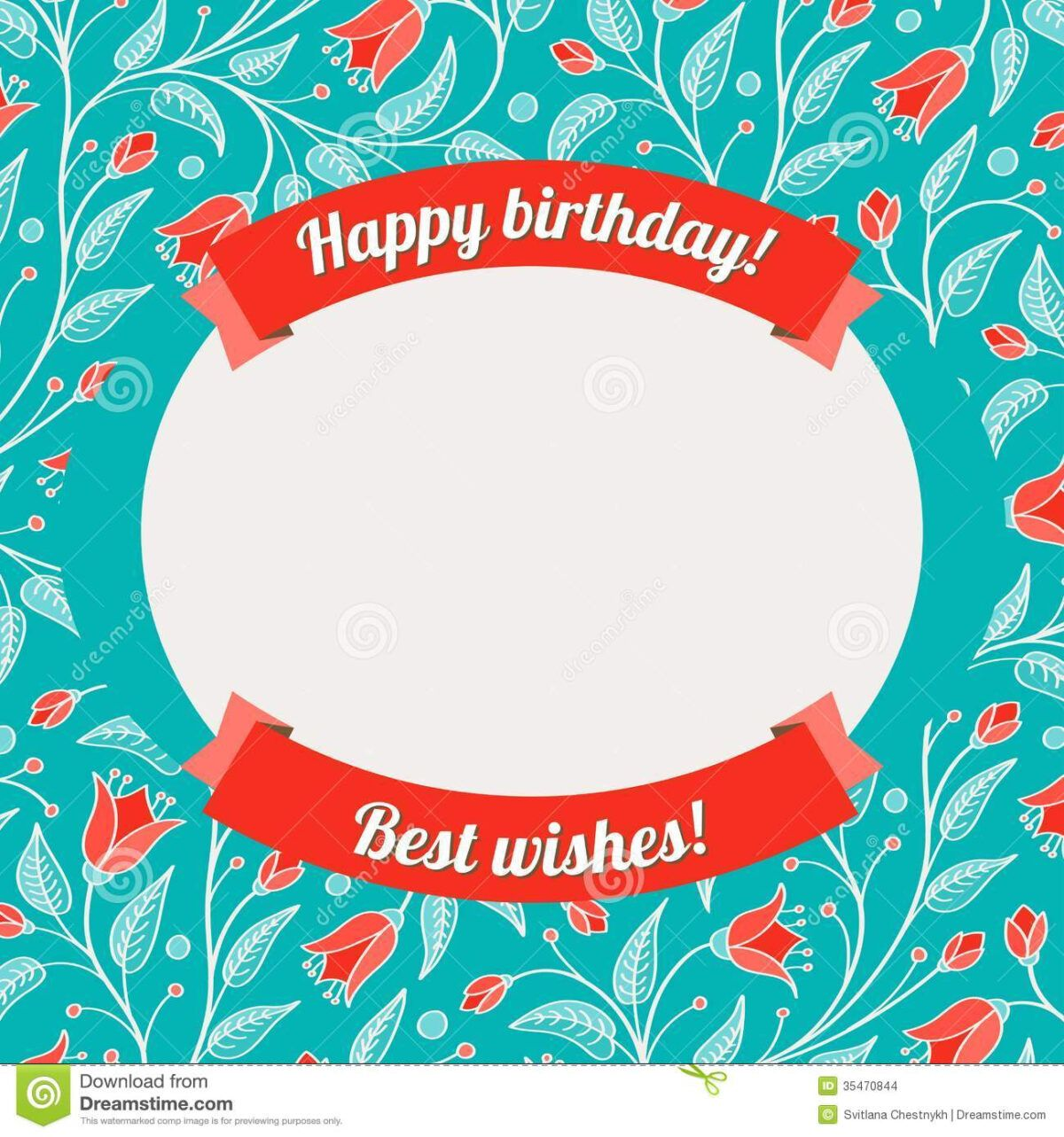 Template For Greeting Card Or Invitation Stock Vector In Greeting Card Layout Templates Unique Birthday Cards 30th Birthday Cards Free Birthday Card