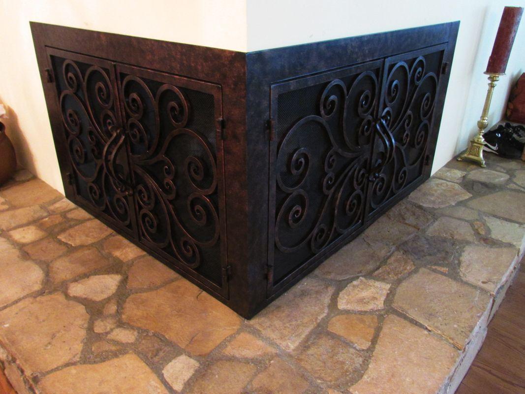 Beautiful Custom Made Fireplace Doors By The Fireplace Door Guy