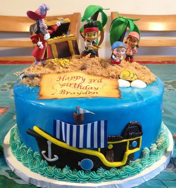 Jake And The Neverland Pirates Cake With Images Pirate Cake
