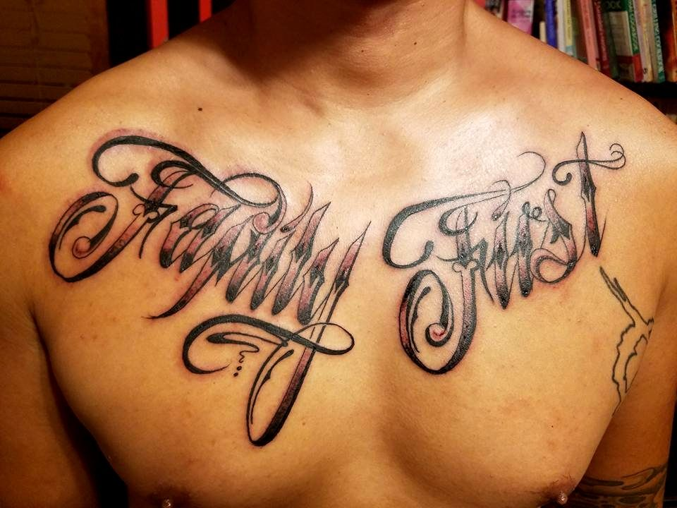 Family First Chest Tattoos Ideas In 2020 Family Tattoos Tattoos Good Family Tattoo