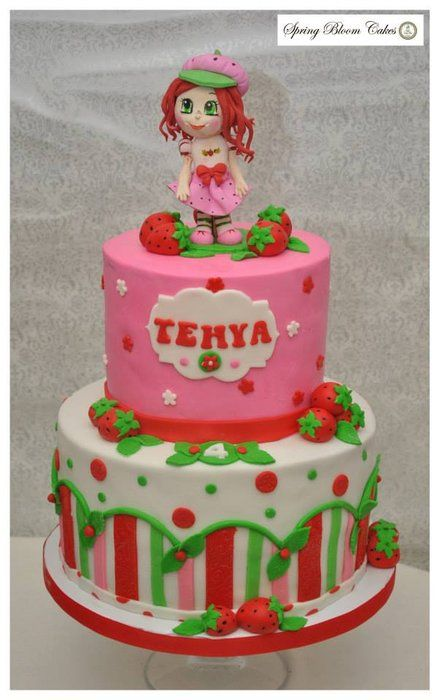 Strawberry Shortcake cake - by SpringBloomCakes @ CakesDecor.com - cake decorating website