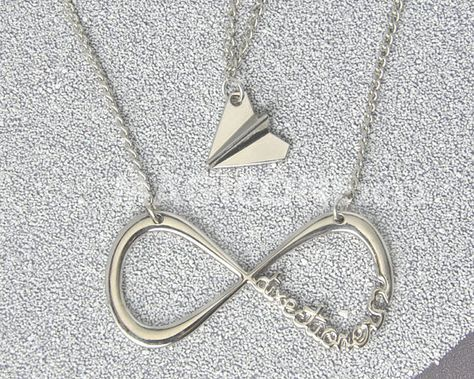 2pcs 1d Necklaces One Direction Necklace Directioner Infinity Necklace And Paper Airplane Necklace Great Gift For Direcioner Paper Airplane Necklace Airplane Necklace Infinity Necklace