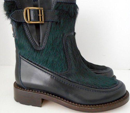 Chanel Women's Bottines Boots Dark Green 9.5 M