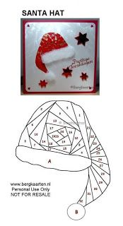 Irisvouwen Santa Hat Iris Folding Pattern Iris Folding Templates Iris Paper Folding