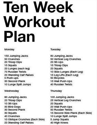 10 weeks workout plan  workout how to plan hiit