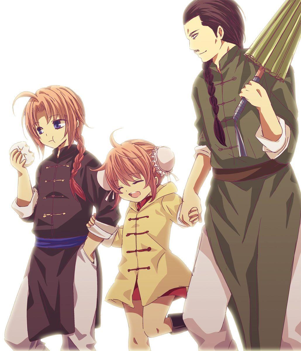 Image result for Kamui & Kagura & Umibouzu (Dengan gambar