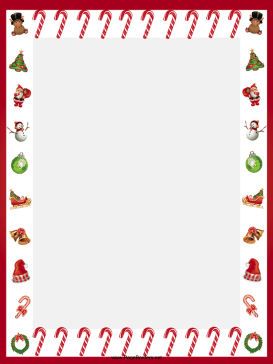 Candy Canes And Other Festive Images Adorn This Free Printable