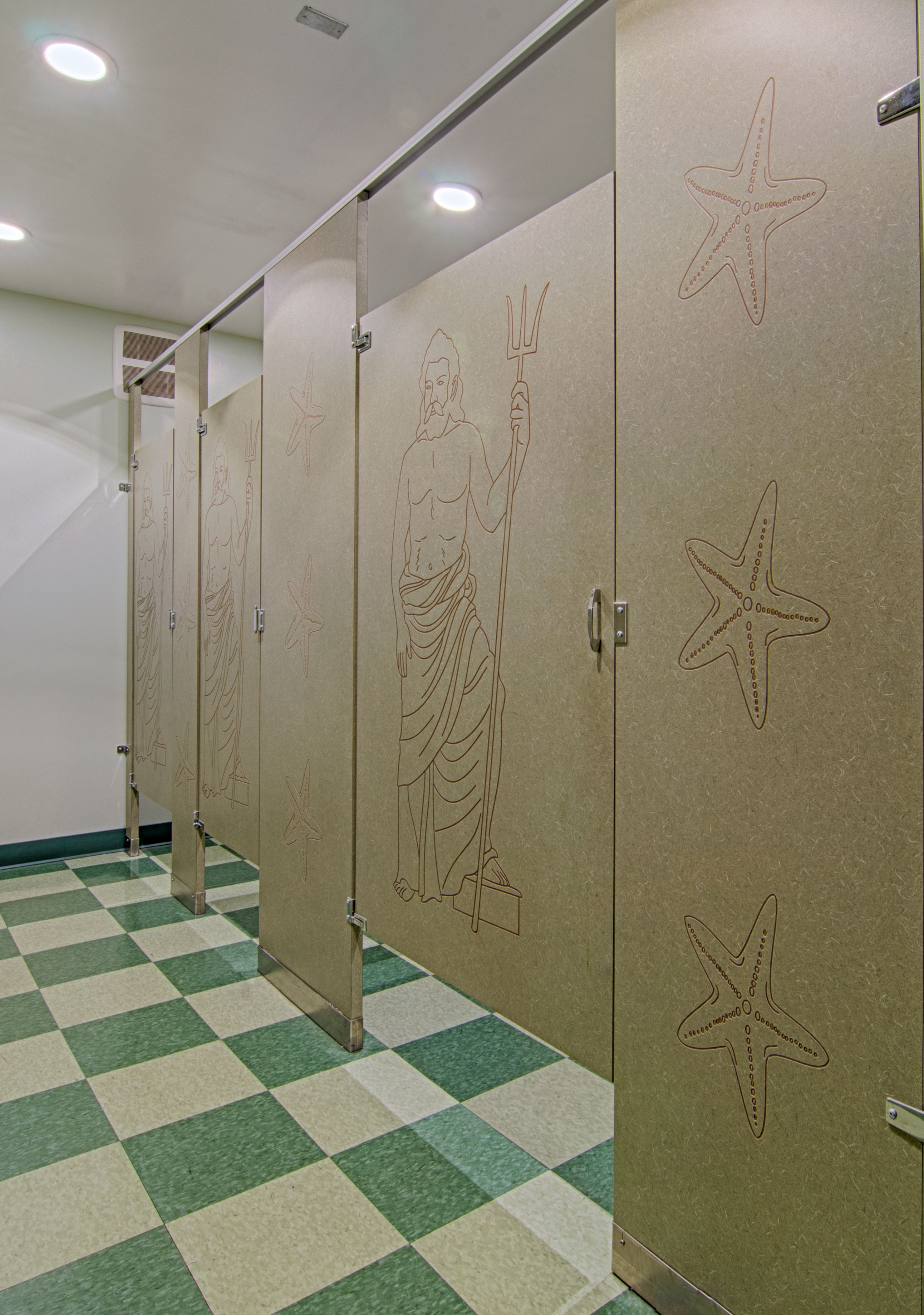 Ironwood Manufacturing Custom Laminate Toilet Partitions And Bathroom Doors With