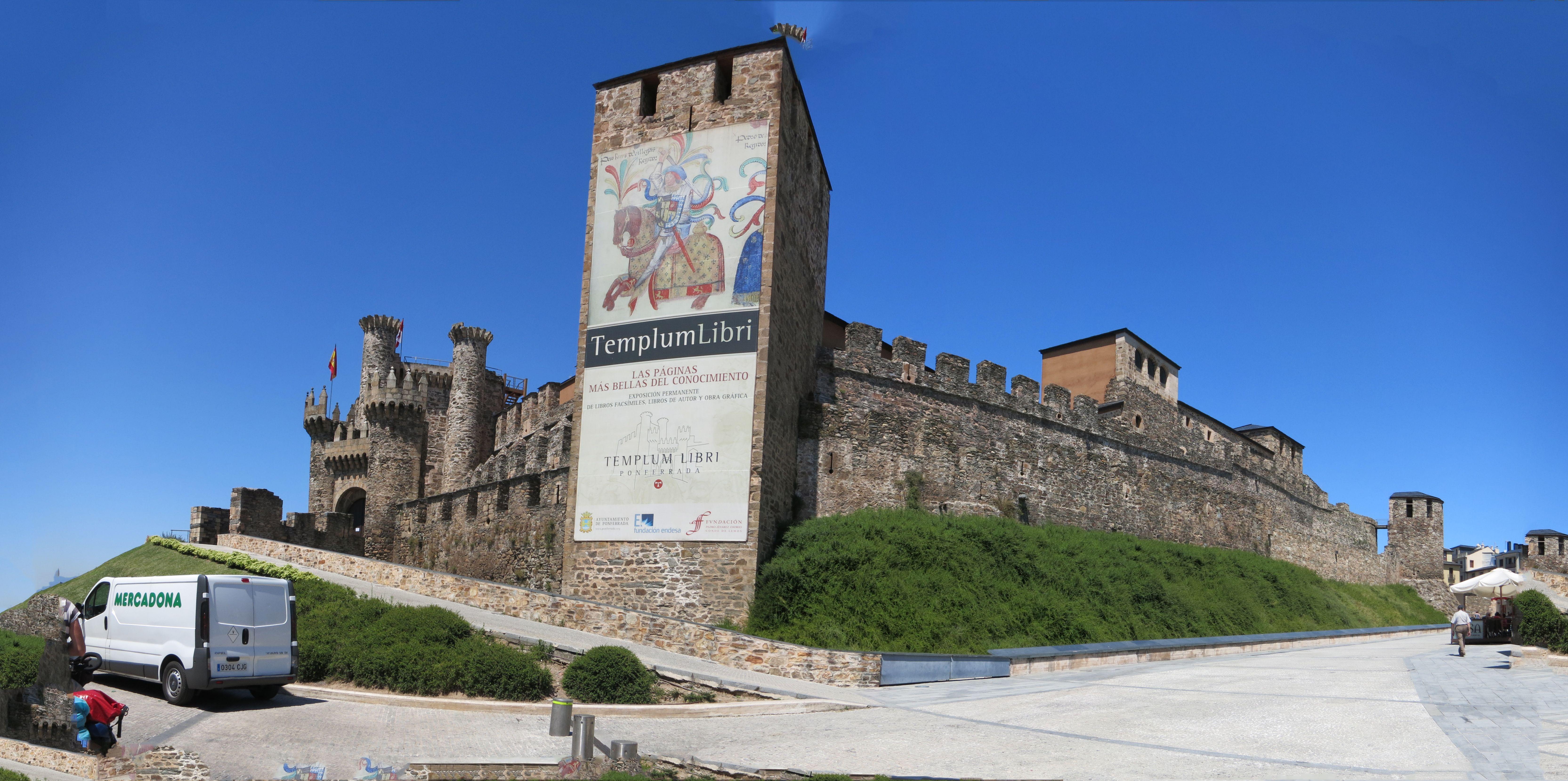 Tempeliersburcht in Ponferrada