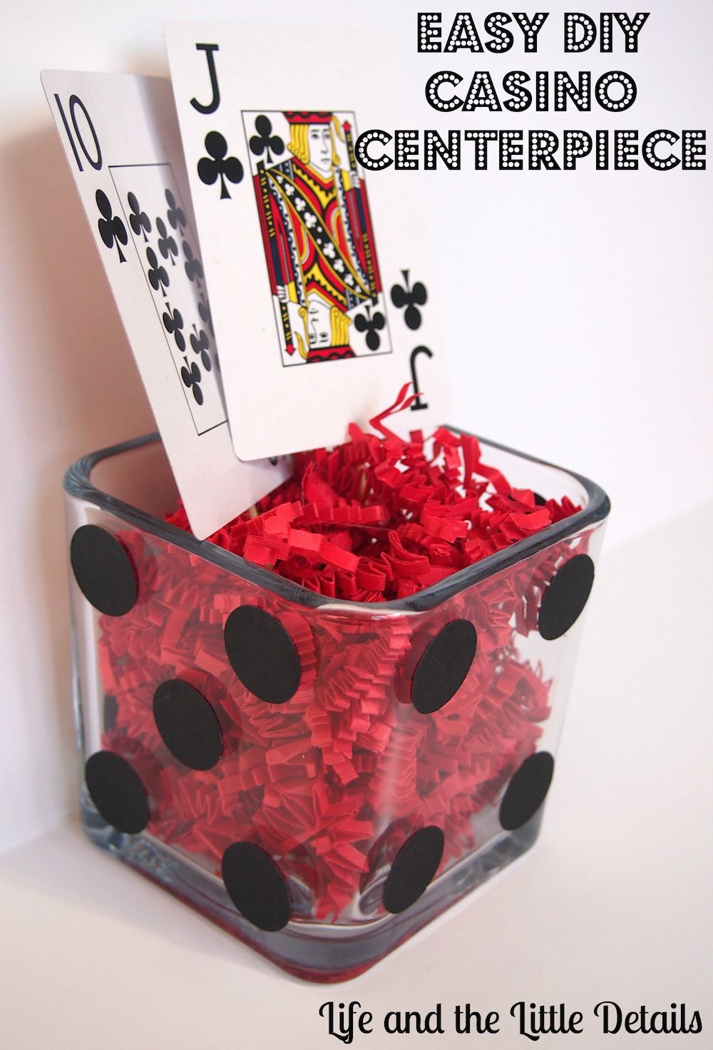Easy Diy Casino Centerpiece For A Poker Party Casino Party