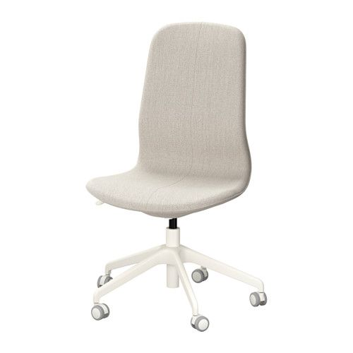 ikea lngfjll swivel chair gunnared beigewhite an ergonomic office chair with lightly curved lines attention to the sewn details and an easytouse