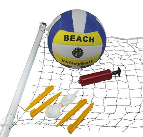 Maui And Sons Beach Complete Volleyball Set Maui Sons Http Www Amazon Com Dp B013tc4vv4 Ref Cm Sw R Pi Dp G1lvwb0qd Volleyball Set Maui And Sons Volleyball