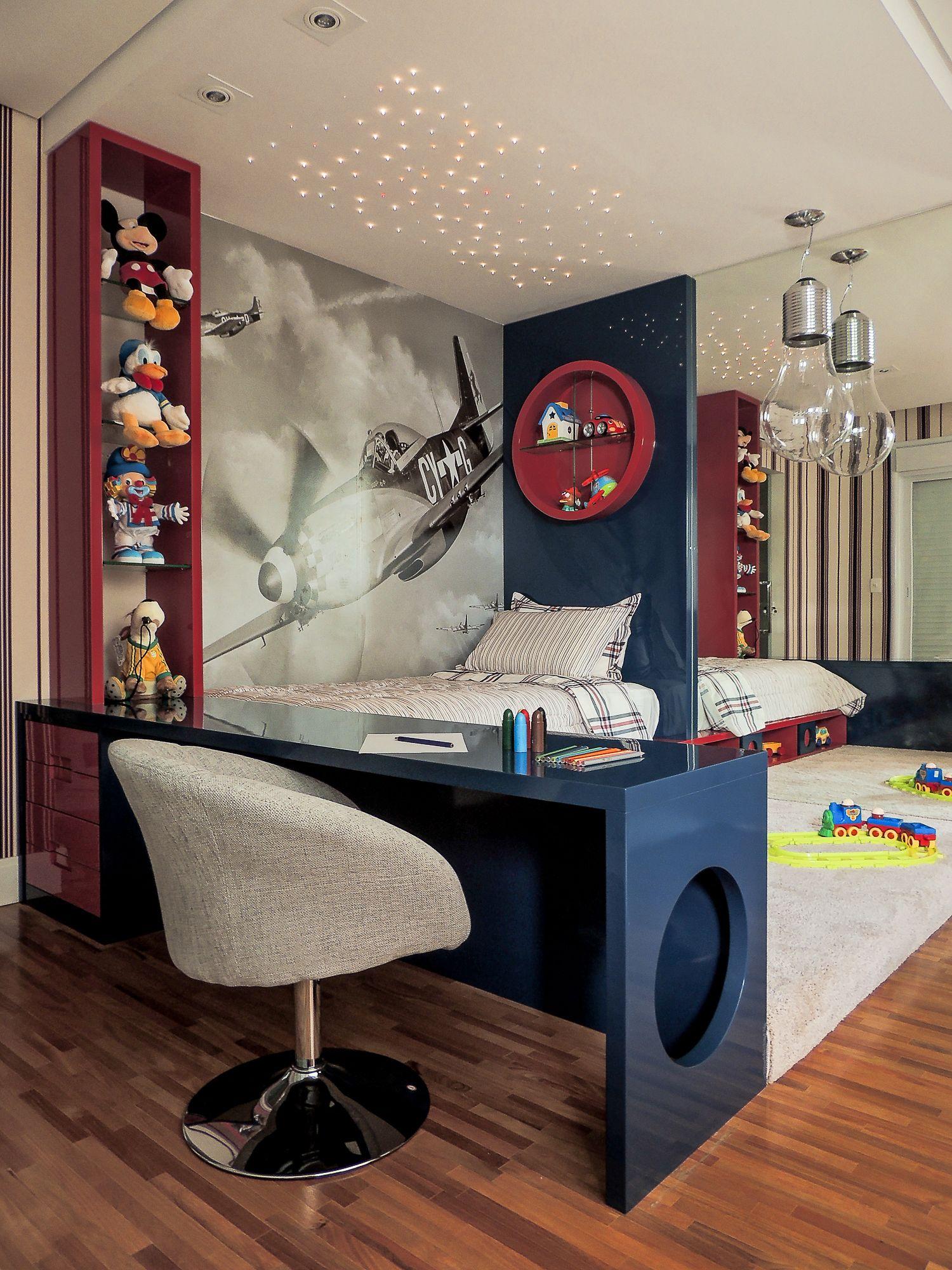 Quarto De Menino Interior Design Pinterest Quarto De Meninos  ~ Modelos De Quarto De Criança E Iluminação Quarto Jovem