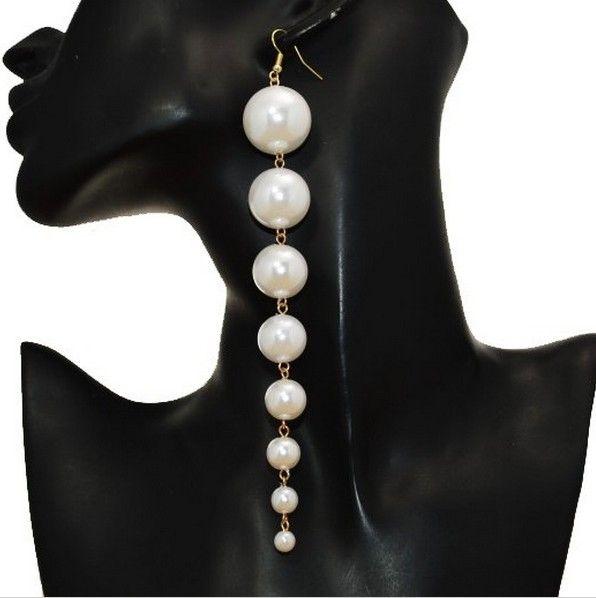 Modeschmuck großhandel  Ristar. J Aussage Simulierte Perle Lange Ohrringe für Frauen 2017 ...