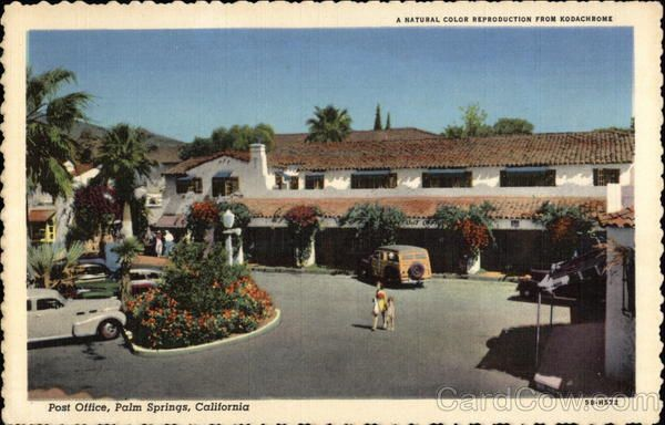 Los Angeles Ca Shopping Hotels Restaurants Banks Grocery Stores Bars Locations California Postcard Palm Springs California