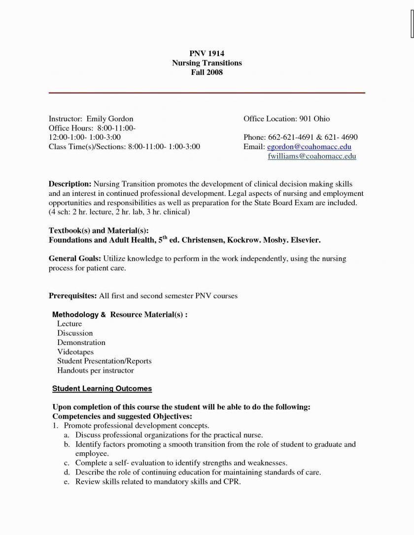 New Grad Nursing Resume Clinical Experience New Nursing